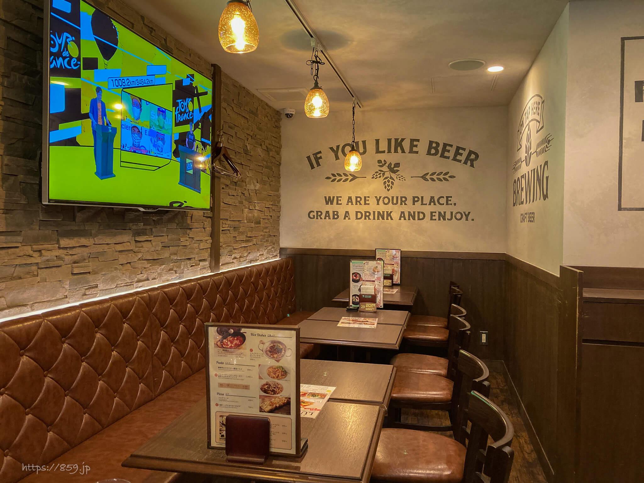 札幌キッチンのランチでクラフトビール飲み比べ旧アイリッシュパブケルツ2階席