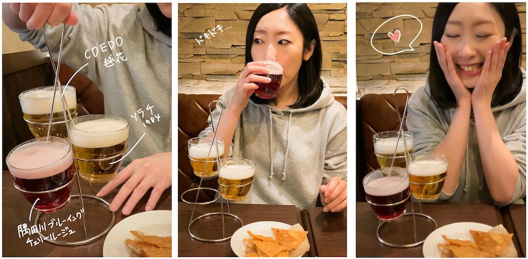 札幌キッチンのランチでクラフトビール飲み比べ旧アイリッシュパブケルツ