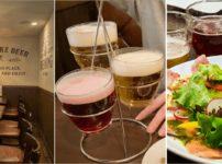 札幌キッチンのランチでクラフトビール飲み比べ旧アイリッシュパブケルツ2階席でカルパッチョ